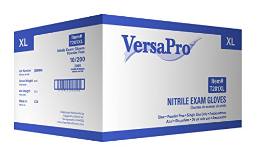 VersaPro Nitrile Exam Glove (Non-latex) Powder Free (Extra Large 2000/case)
