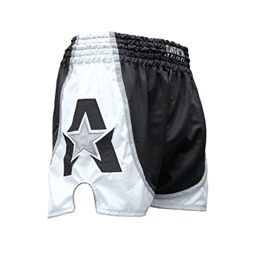 Anthem Athletics Infinity Muay Thai Shorts - 20+ Styles - Kickboxing, Thai Boxing - Black & White - Medium