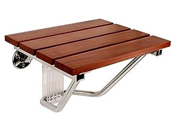 Amazon.com: Steam Spa SS-F Teak Wood Wall Mounted Shower Seat ...
