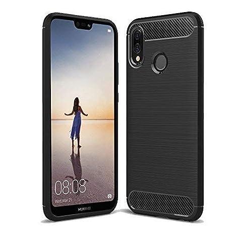 Funda Huawei P20 Lite, COOKAR Funda Huawei P20 Lite Funda protectora Ultra Thin Silicona de silicona suave para Huawei P20 Lite Funda(Negro): Amazon.es: ...