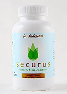 Securus - All Natural Anxiety and Panic Relief Supplement, Kava Kava, GABA, and Passion Flower. Promotes Natural Calm and Sleep, Dr. Formulated, Safe, Non-Addictive – 90 Veg Caps