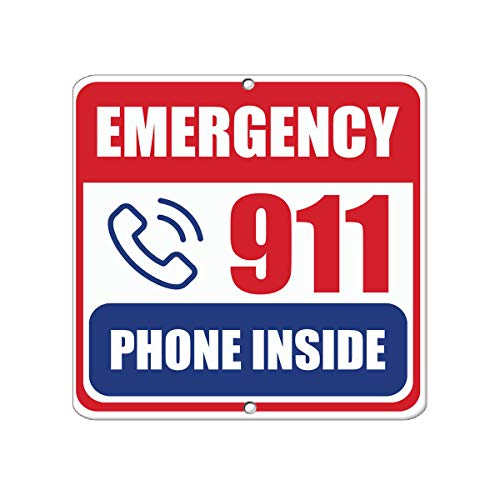 - Emergency 911 Phone Inside Hazard Emergency Vinyl Sticker Decal 8