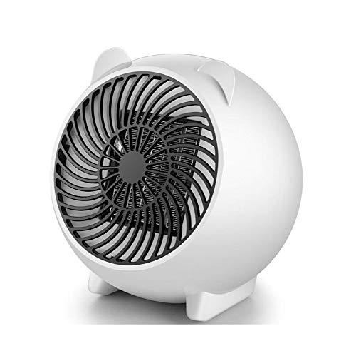 JQMJ Termoventiladores Mano Ahorro Energía Calentador Ventilador Eléctrico Escritorio Mini Personal PTC Ceramic Space...