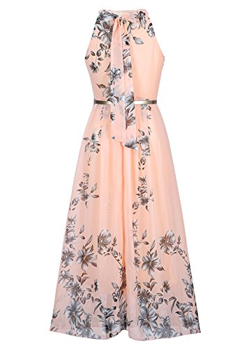 Ruiyige Women S Sleeveless Halter Neck Vintage Floral