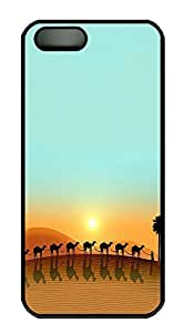 iPhone 5 5S Case Landscapes Camels PC Custom iPhone 5 5S Case Cover Black