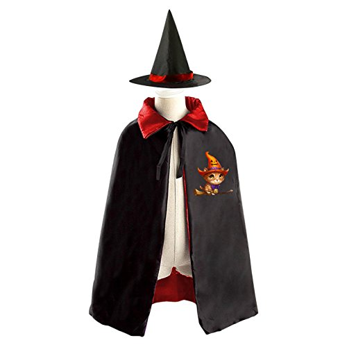 Children Kids Wizard Witch Cape With Hat League Of Angels Fairy Cosplay Party Costume Set