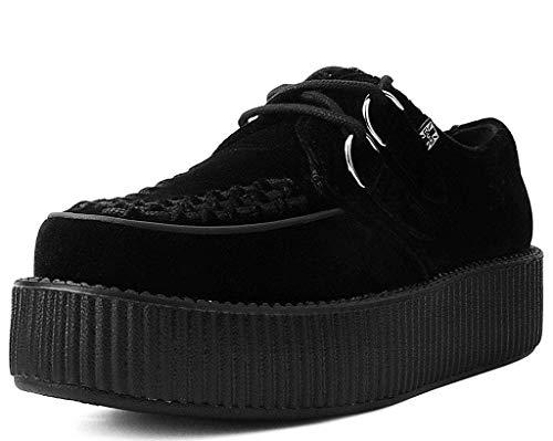 T.U.K. Shoes V9492 Unisex-Adult Creepers, Black Velvet Viva Mondo Creeper - US: Mens 8 / Women 10 / Black/Fabric - Mondo Creeper Shoe