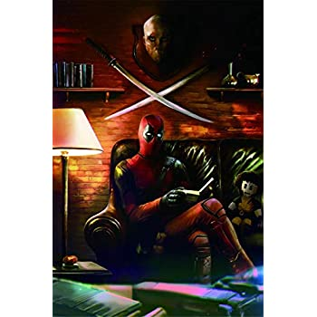 Deadpool,Wall Art Home Wall Decorations for Bedroom Living Room Oil Paintings Canvas Prints-353 (Unframed,16x24inch)
