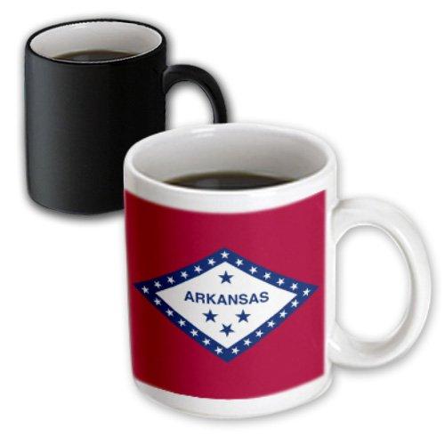 3dRose mug_55378_3 State Flag of Arkansas (Pd-Us) Magic Transforming Mug, 11-Ounce