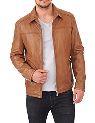 Leather Market Men's 100% Lambskin Leather Bomber Biker Jacket outfit