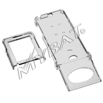 Crystal Clear Smoke Transparent Snap-On Cover Case Cell Phone Protector for Sony Ericsson W350 W350i