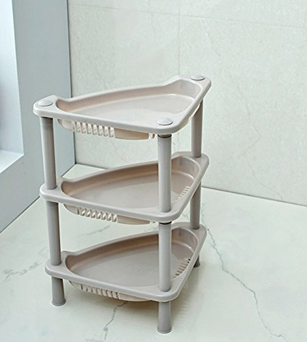 Highdas Tier 3 Badezimmer Storage Rack Kunststoff Eckregal Caddy