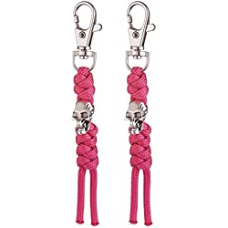 XUANTAI Paracord Zipper Pulls 2 Packs for Backpacks, Luggage Tents, Trolley Cases, Traveling Cases, Jackets with Zippers(Pink )