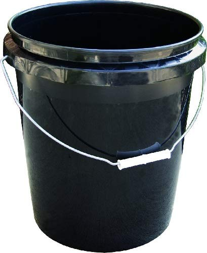 Encore Plastics 250003 70-Mil Regrind Pail/Bucket, 5-Gallon, Black