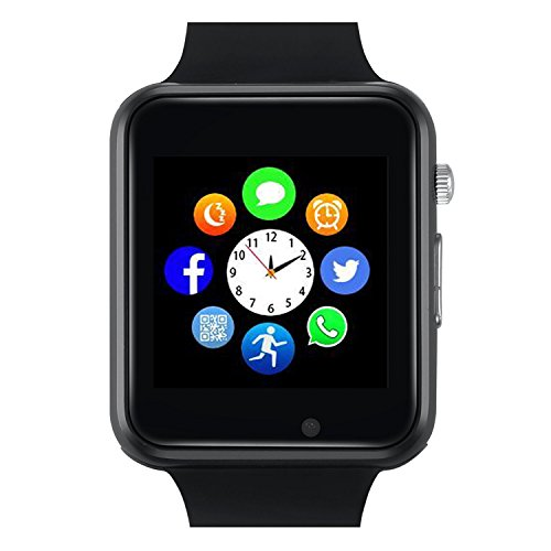 Bluetooth Smart Watch - Sazooy Touch Screen Smart Wrist Watch Smartwatch Phone With Camera Pedometer SIM TF Card Slot for iPhone IOS Samsung LG Android for Men Women Kids (Black)