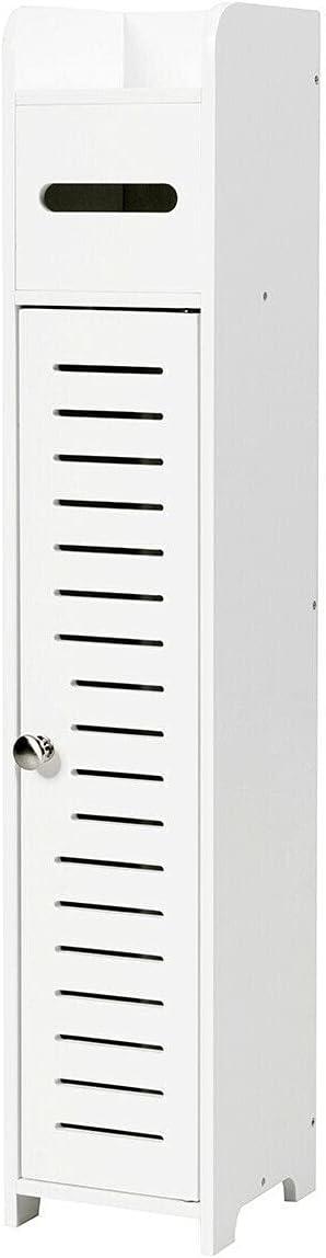 YIE Small Bathroom Storage Corner Floor Cabinet Toliet Paper Holder Bath Organizer