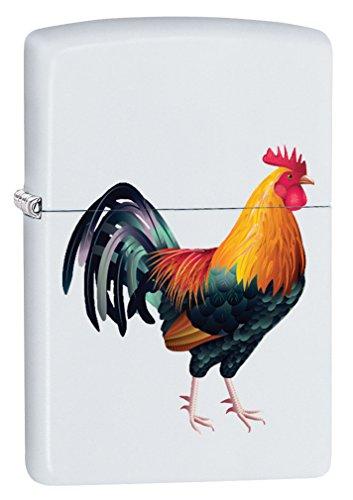 Zippo Lighter: Rooster - White Matte 79473