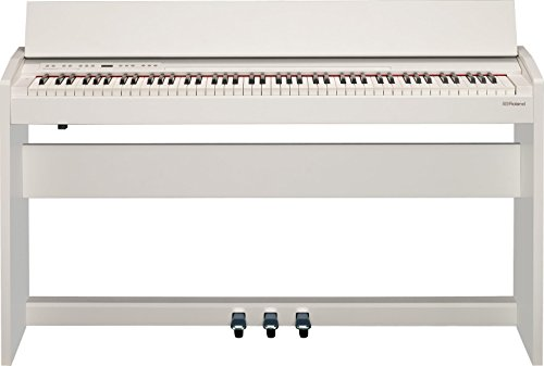 (Roland Compact 88-key Digital Piano with Built-In Speaker, white (F-140R-WH))
