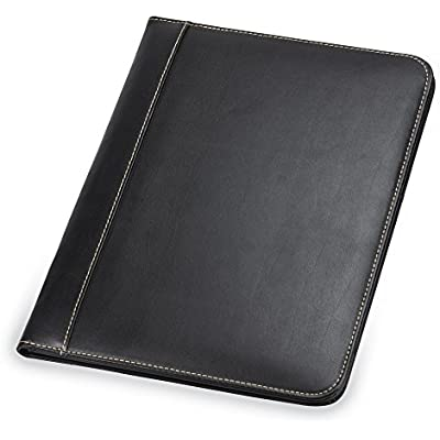 samsill-contrast-stitch-leather-padfolio