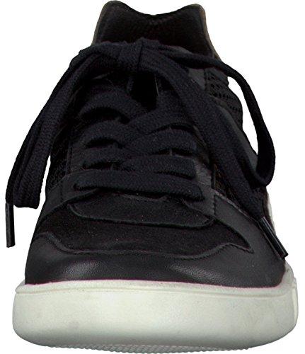 Tamaris Black Taupe Leder Textil - 12362128041 Nero