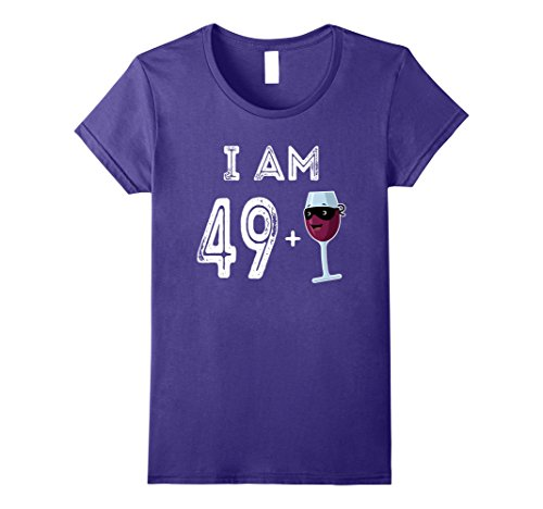 Bottle Of Alcohol Costume (Womens 50 Years Old Red Wine Glass Gift 50th Birthday Shirt Large Purple)