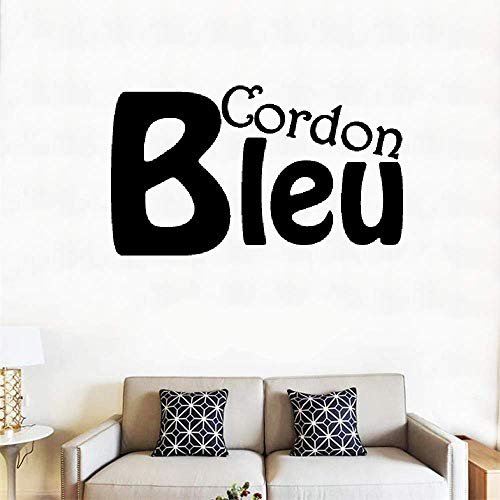 Stick Mural Removable Wall Sticker Decals French Quote Cordon Bleu Blue Cord ()