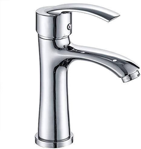 浴室の洗面台の蛇口銅めっき蛇口アンチスプラッシュセラミックバルブコア流域の蛇口