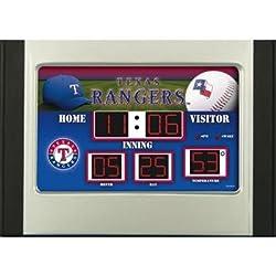 Team Sports America Texas Rangers Scoreboard Desk Clock