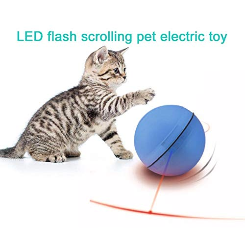 Viet's Ball Cat Toys - Electric Pet Ball LED Flash Rolling Pet Toys Funny Pet Teasing Toy with Electronic Luminous Light for Cats Dogs Puppys 1 PCs