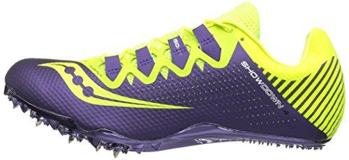Saucony Women's Showdown 4 Track Shoe, Citron/Purple, 9.5 M US by Saucony (Image #5)
