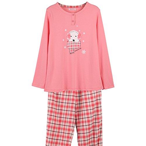 Otoño e invierno servicio a domicilio/ ropa de dormir entre padres e hijos/cómoda de algodón traje de hogar acogedor Sra./Pijamas/ yukata/Pantalones pantalones A