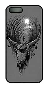 Novel Design Abstract Painting Deer Custom Ultraslim Fits Hard Back Case for iphone 5/iphone 5s WANGJING JINDA