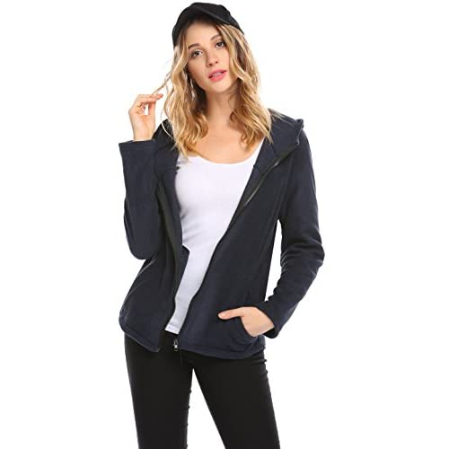 Top Donkap Women's Casual Full Zip Hoodie Lightweight Jacket Coat With Pockets supplier