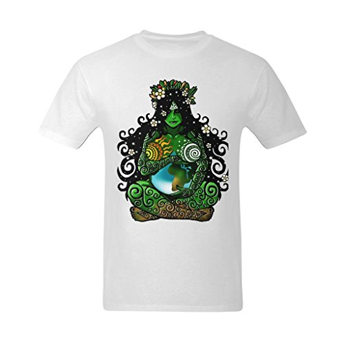 Zero Start Mens Earth Mother Energetic Guardian Painting Design T Shirt   Funny T Shirts Us Size Small