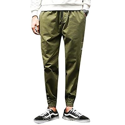 Oberora-Men Fashion Elastic Waist Solid Color Loose Sweatpants Jogger Pants supplier