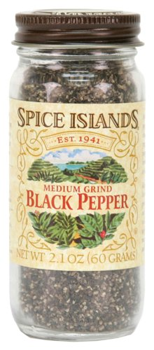 - Spice Islands Pepper, Black Medium Grind, 2.1-Ounce (Pack of 3)