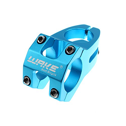 Wake 31.8 Stem 45mm Bike Stem Mountain Bike Stem Short Handlebar Stem for Most Bicycle, Road Bike, MTB, BMX, Fixie Gear, Cycling (Aluminum Alloy, Blue) ()
