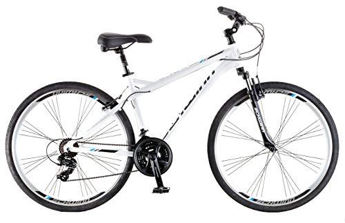 Schwinn Network 3.0 700C Men's Hybrid Bicycle, White/Blue