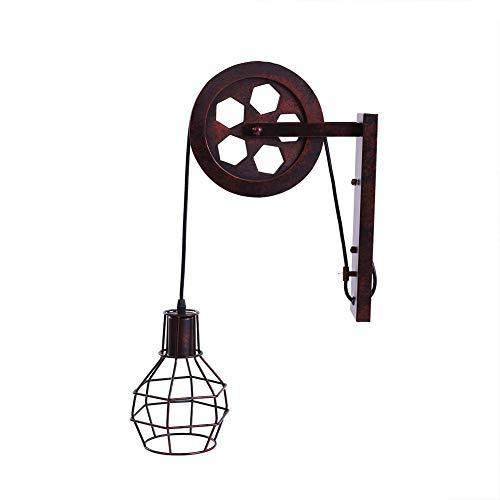 Fdit Lámpara de Pared Estilo Industrial Antiguo Hierro Elevación de la Pared de la Lámpara Lámpara de Pasillo de Pasillo...