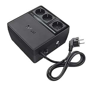 Trust 600VA UPS - Sistema de alimentación ininterrumpida SAI con 3 tomas eléctricas estándar