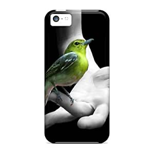 For LatonyaSBlack Iphone Protective Case, High Quality For Iphone 5c Pajaro En Mano Skin Case Cover