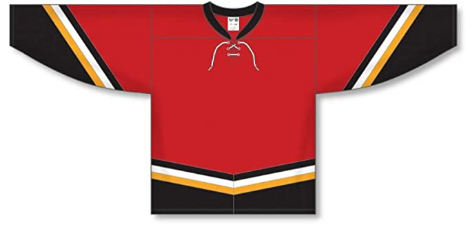 Amazon.com  New Calgary 3RD RED Pro Blank Hockey Jerseys  Clothing 1d1f136847a