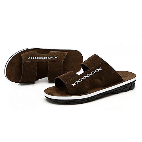 verano Marrón de casual flop Zapatillas vacaciones casual de sandalias de tendencia xYwZvBq