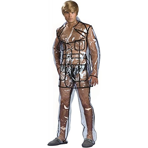 [Bruno Clear Vinyl Suit Costume - X-Large - Chest Size 44-46] (Men's Plus Size Indian Chief Costumes)