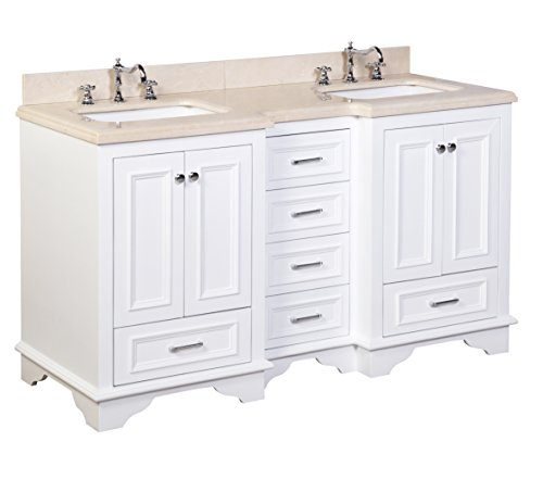 bath collection kbc1260wtmfl nantucket double sink bathroom vanity