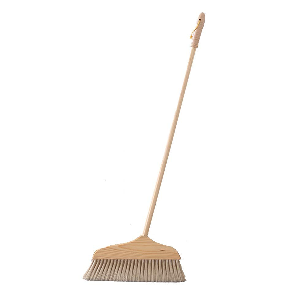 LCAIHUA Broom Long Handle Broom Beige Environmental Protection Log Broom Outdoor Household (Color : Beige, Size : 90X30CM) by LCAIHUA-Hand Brooms
