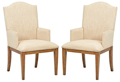 Stone & Beam Parson Dining Chairs, 40″H, Set of 2, Beige For Sale