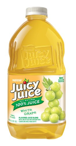 Juicy Juice White Grape Juice, 64-Ounce Pet Bottles (Pack of (Juicy Juice Bottle)