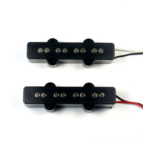 Set of Pickups Bridge & Neck For Jazz Bass JB Guitar -BLACK (A67, B62) ()