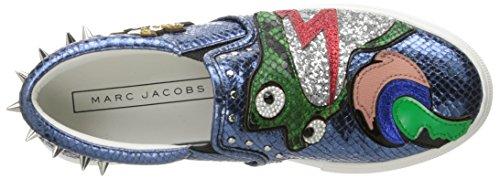 newest c0c55 e2366 Marc Jacobs Femme Mercer Frog Skate Fashion Sneaker Bleu   Multi v7Xr8